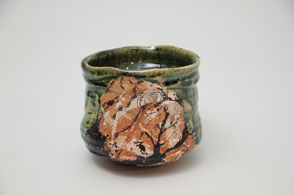 「織部茶碗」(池田-15) ¥57,240 Φ12.5、H:11.2(㎝)