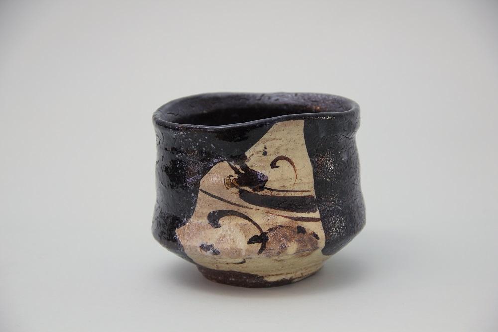 「織部唐津茶碗」(川上-23) ¥270,000 Φ11.7、H:9.2(㎝)