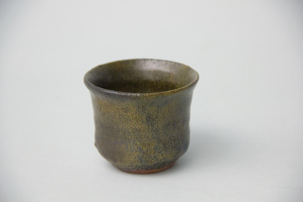 「黒唐津ぐい呑」(三藤-35) ¥6,480 Φ6.3、H:5.2